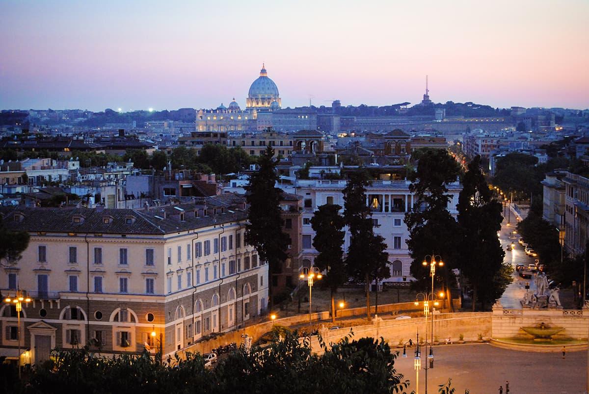 The View From The Terrazza del Pincio in Rome, Italy