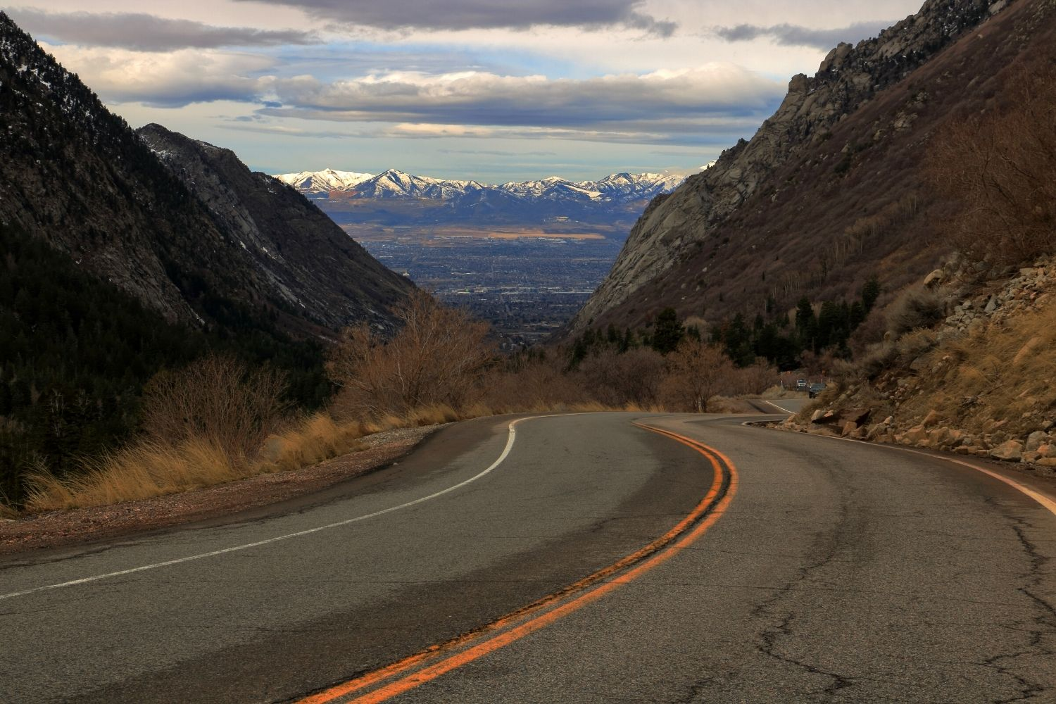 Road in Little Cottonwood Canyon