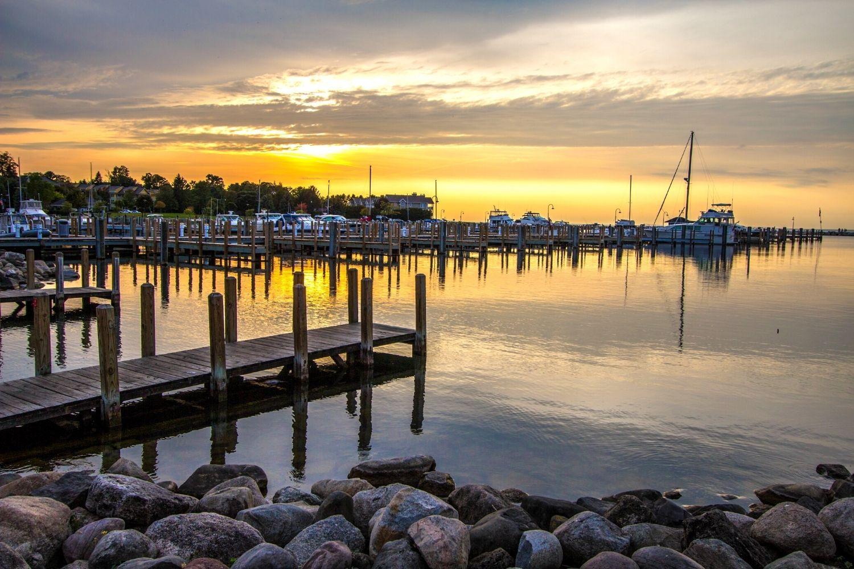 Petoskey Harbor At Sunset