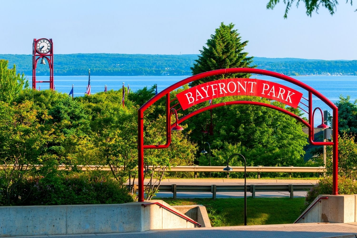 A visit to Petoskey's Bayfront Park is one of many great things to do in Petoskey