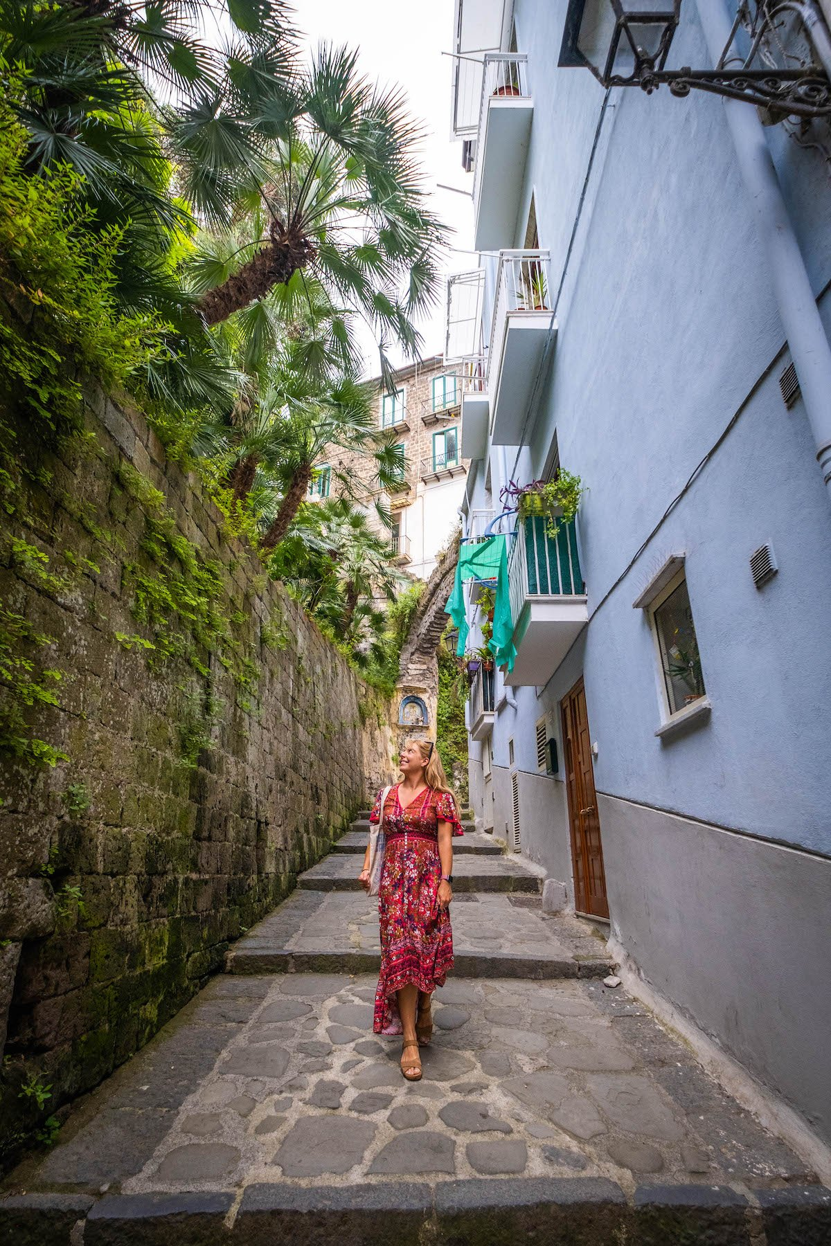 Natasha Walking through the streets of Sorrento To Marina Grande