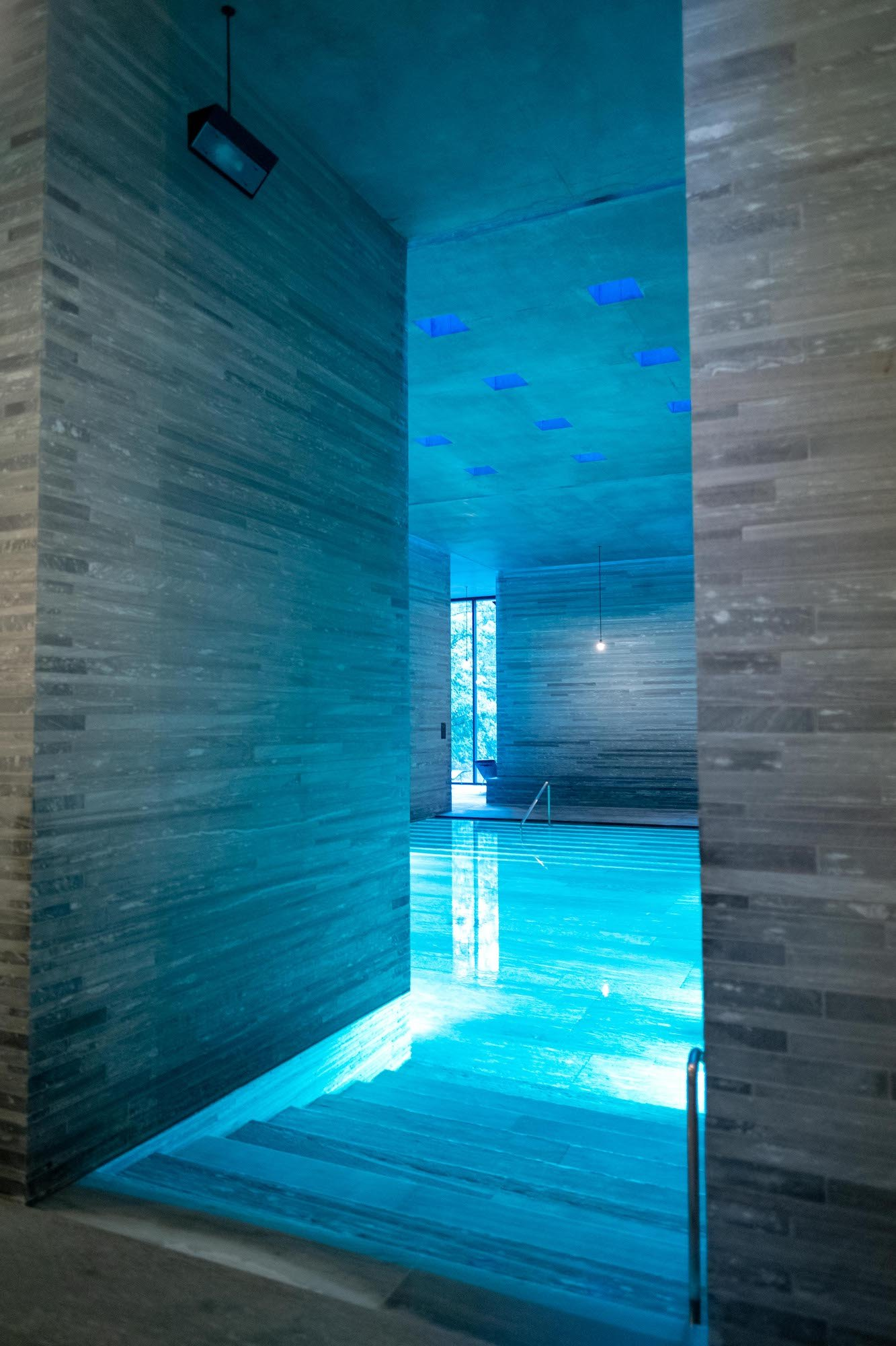 Interior Pool in Therme Vals