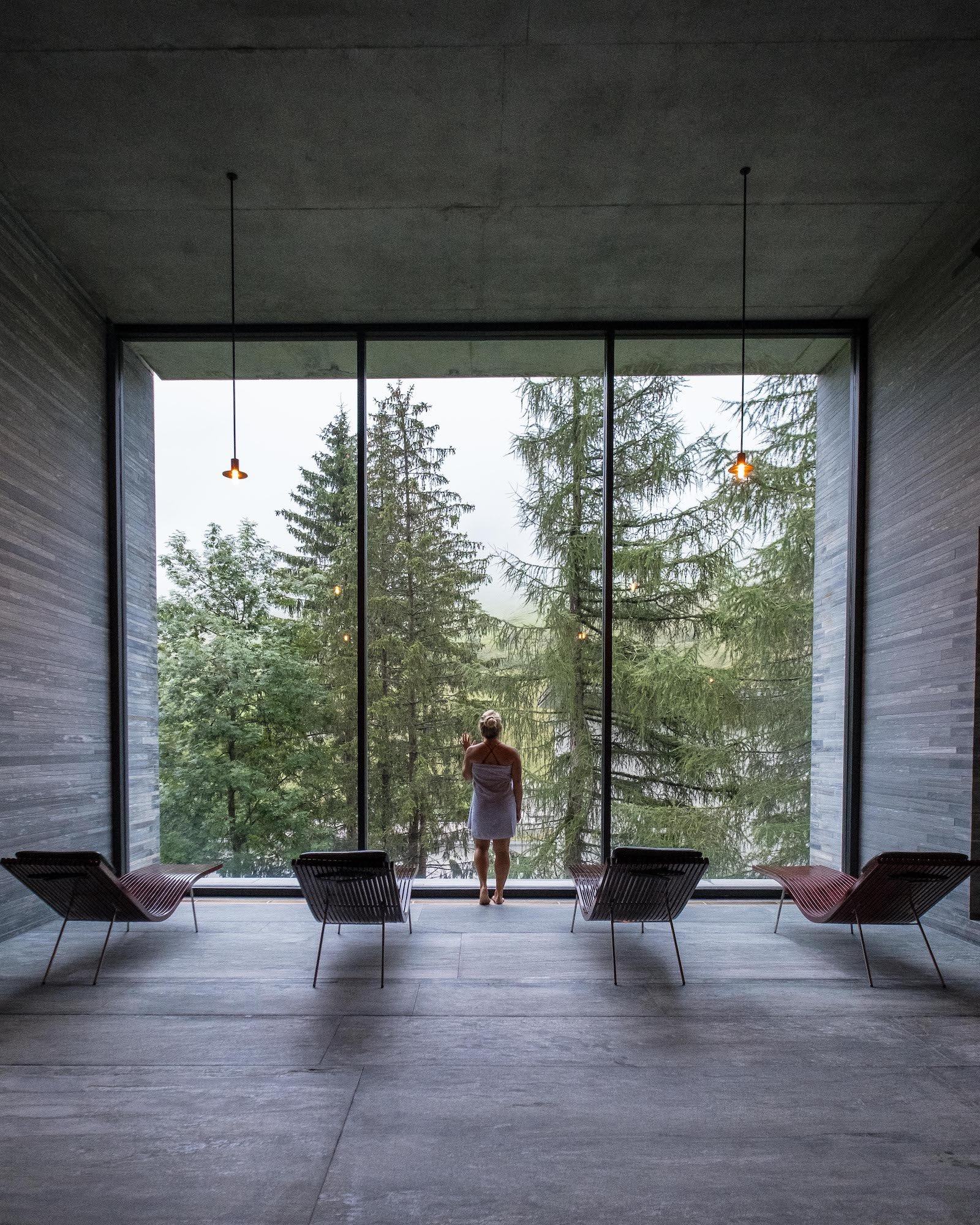 Interior Windon in Therme Vals