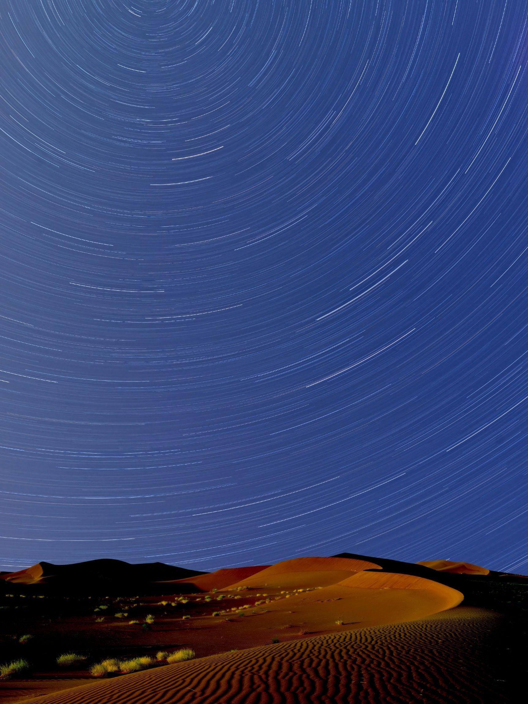 The Saharan Desert At Night