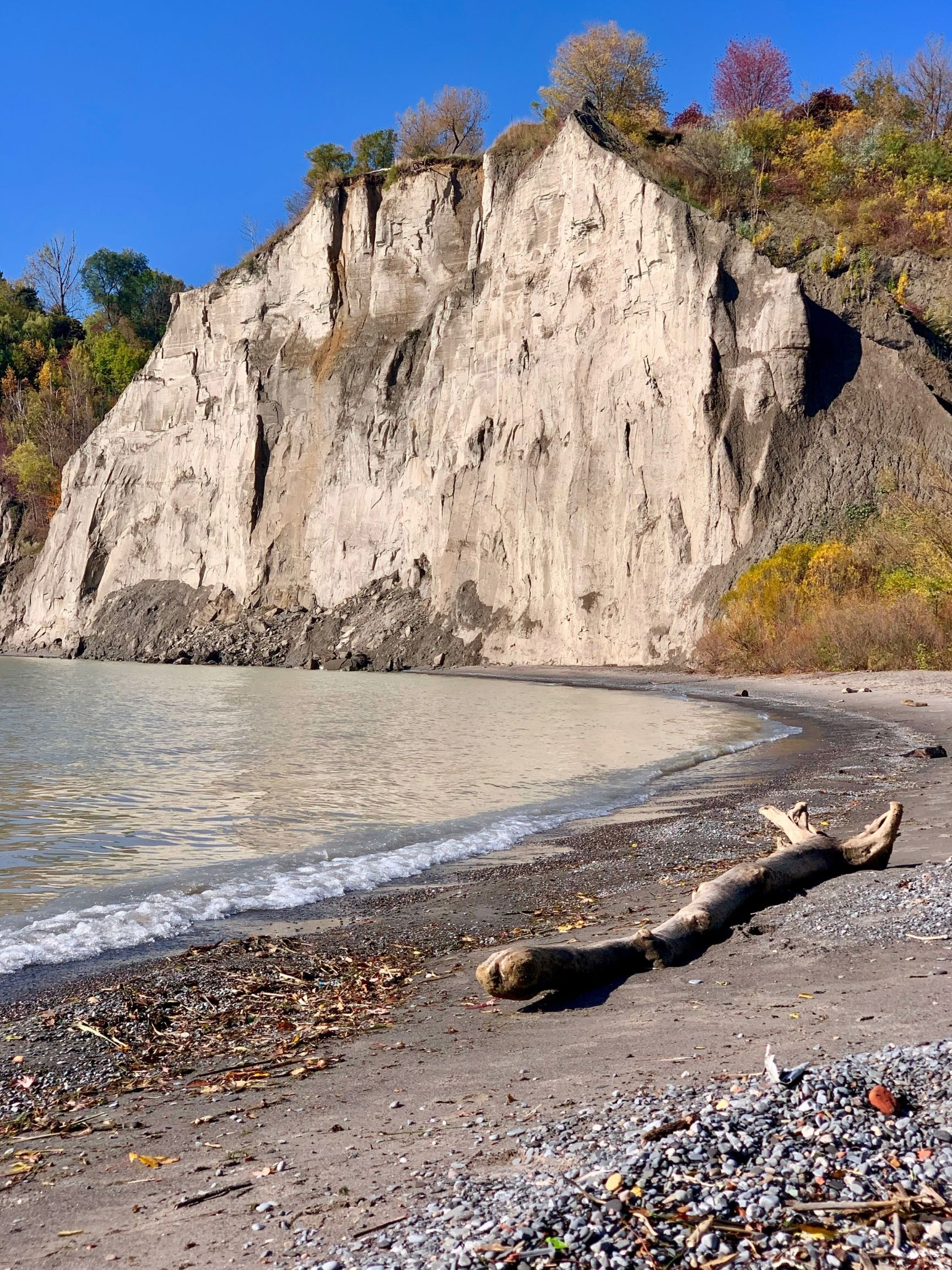 Scarborough Bluffs on a fall day